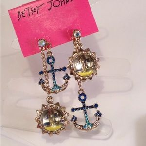 Betsey Johnson Anchor & Sailboat Bauble Earrings
